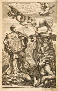 Leggende sui Taurini: Eridano mostra la pianta di Torino al dio Api
