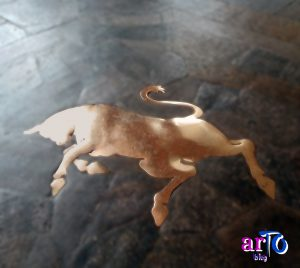 Leggende sui Taurini: foto del toro di piazza San Carlo a Torino