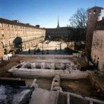 Tratto delle mura romane compreso tra Palazzo Madama e Palazzo Reale. © Soprintendenza per i Beni Archeologici del Piemonte e del Museo Antichità Egizie