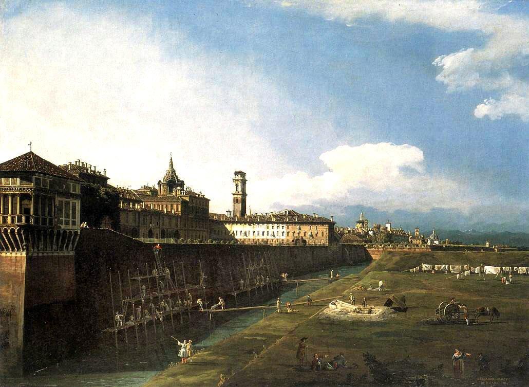 Bernardo Bellotto - Veduta di Torino dal lato dei Giardini Reali (1745) - Galleria Sabauda Torino