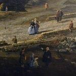 Bernardo Bellotto - dettaglio della Veduta dell'antico ponte sul Po a Torino