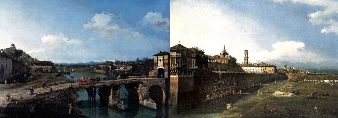 Bernardo Bellotto - immagine in evidenza con le vedute di Torino