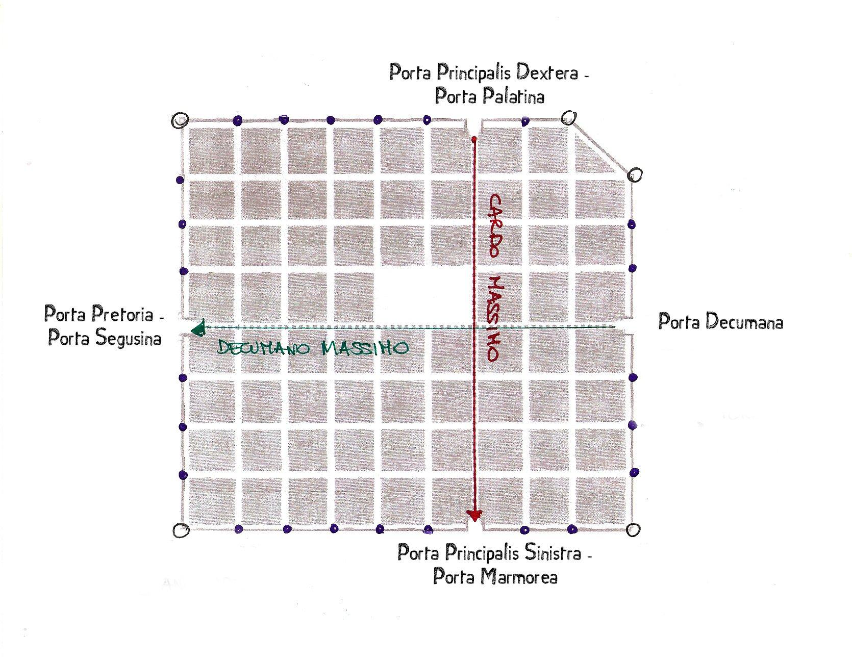 Porte di Iulia Augusta Taurinorum - piantina