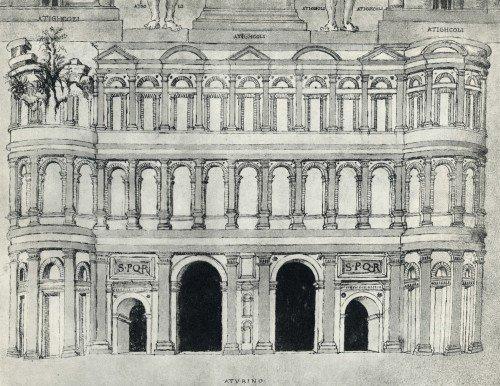 Porte di Iulia Augusta Taurinorum - Giuliano da Sangallo. Rilievo di Porta Marmorea, 1494-1497. © Biblioteca Apostolica Vaticana