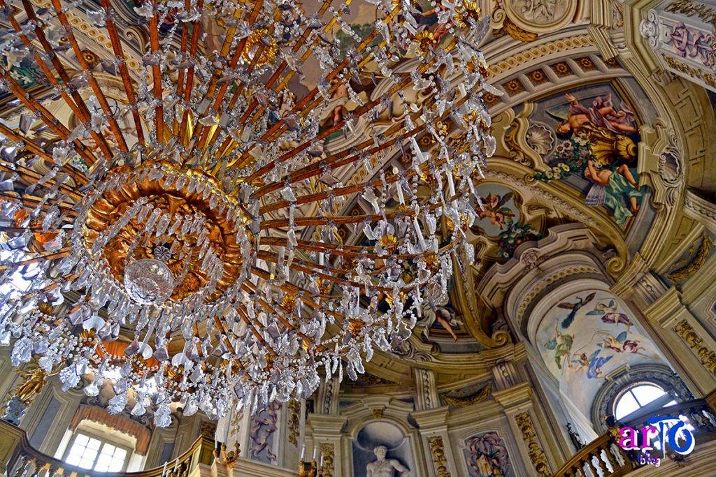 La mia galleria fotografica di Torino - Particolare della volta del salone delle feste della Palazzina di caccia di Stupinigi