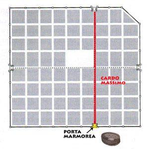 collocazione anfiteatro-romano (Piantina tratta da ©disegno GAT 2009)