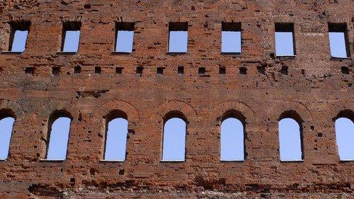Particolare della Porta Palatina. Fotografia di Plinio Martelli, 2010. © MuseoTorino.