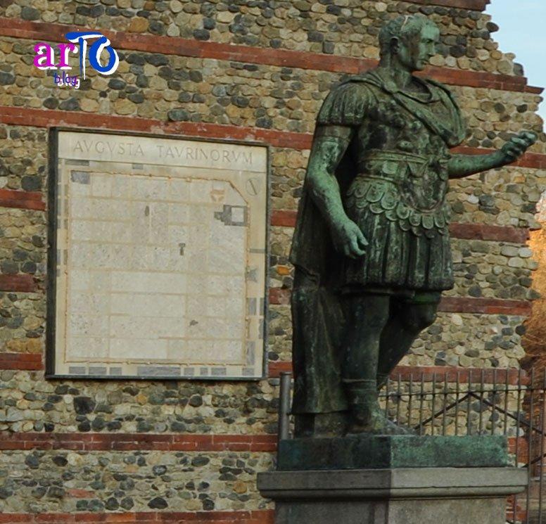 Pianta di Iulia Augusta Taurinorum nei pressi della Porta Palatina