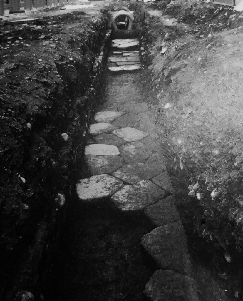 resti del cardo minore in via Milano (foto Diciotti, archivio GAT)
