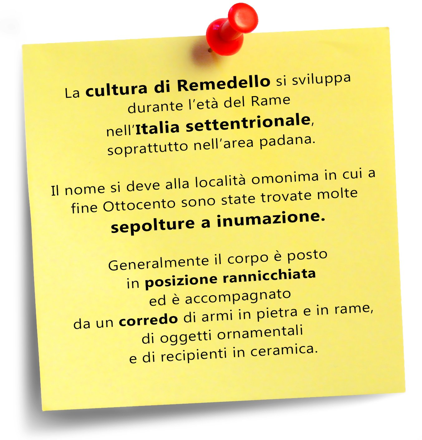 post it- cultura remedello età del rame