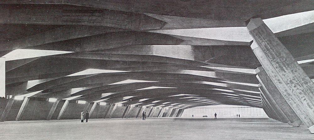 Riccardo Morandi, Padiglione sotterraneo salone dell'auto, Torino 1958-1959