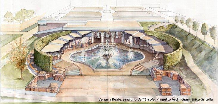 restauro della Fontana di Ercole-Venaria-Reale-Progetto-Architetto-Gianfranco-Gritella
