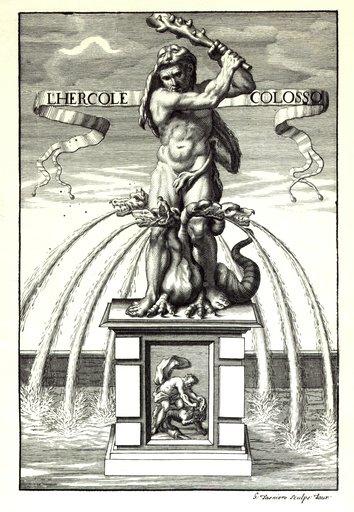 restauro della Fontana di Ercole -raffigurazione statua ercole - reggia di venaria