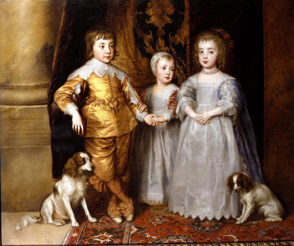 I tre figli maggiori di Carlo d'Inghilterra - Van Dick - collezioni reali d'Inghilterra