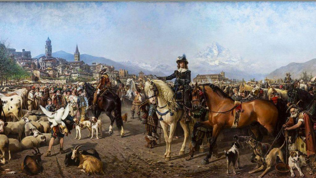 mostre d'arte dell'estate 2020 a Torino - - Cavalli costumi e dimore -  La fiera di Saluzzo di Carlo Pittara GAM Torino