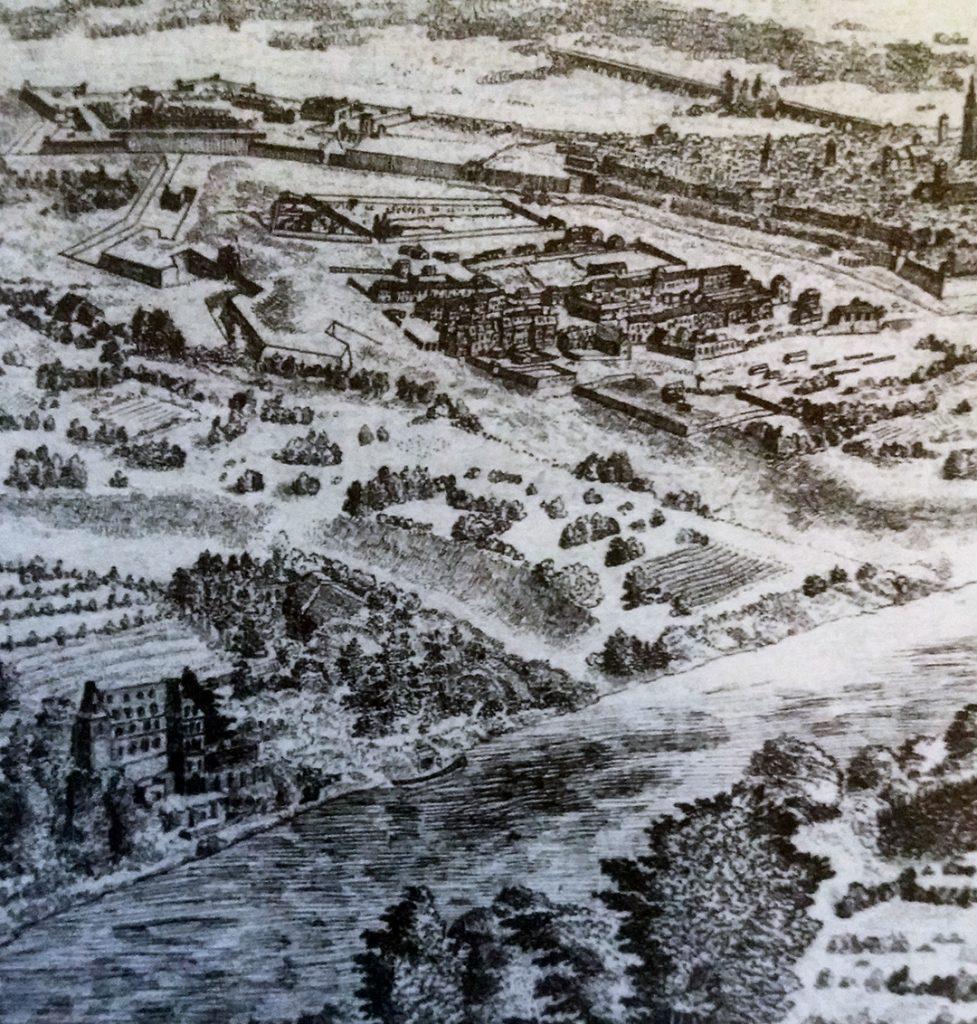 """Anonimo, """"Veduta della città di Torino della zona collinare di San Vito"""", Parigi, Bibliothèque Nationale de France"""
