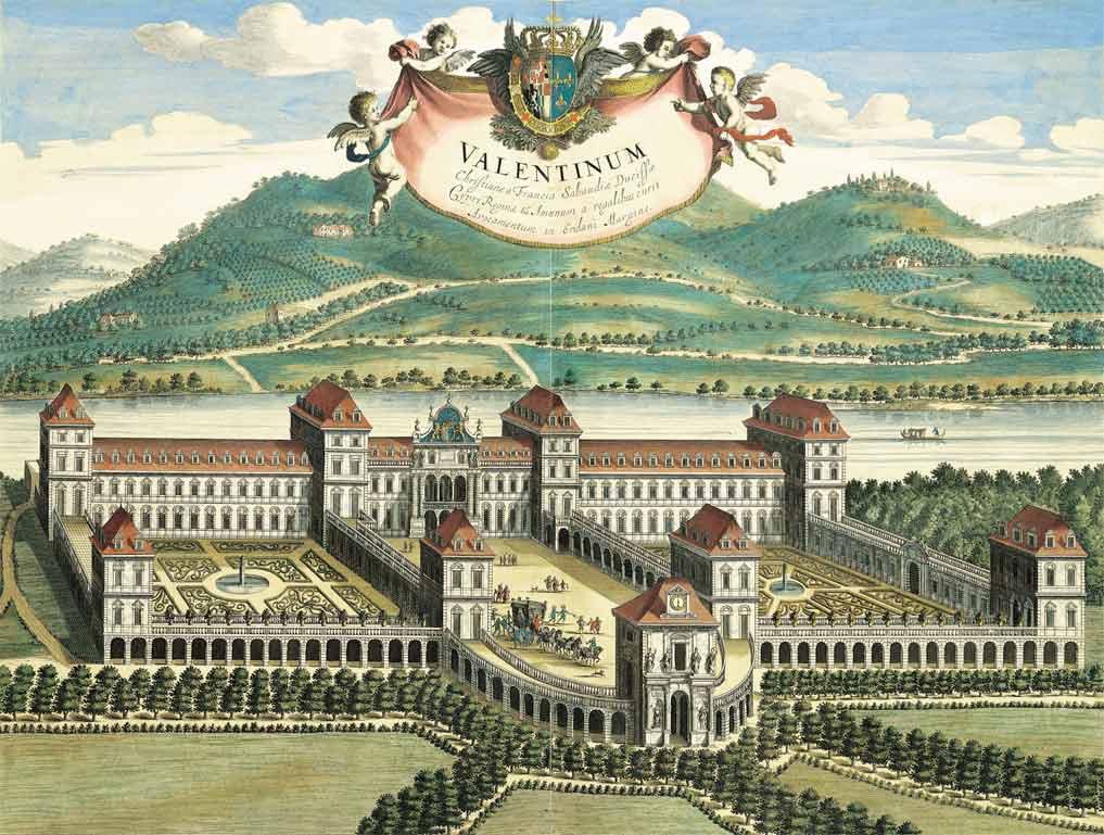 Veduta verso la città. Incisione anonima su disegno di Giovanni Tommaso Borgonio,  ©Archivio-Storico-della-Città-di-Torino