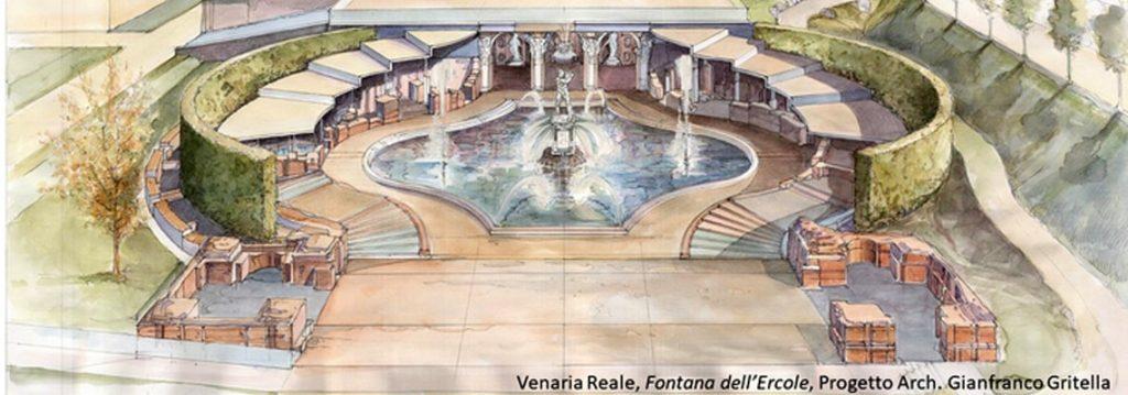 il restauro della fontana d'ercole della Venaria reale